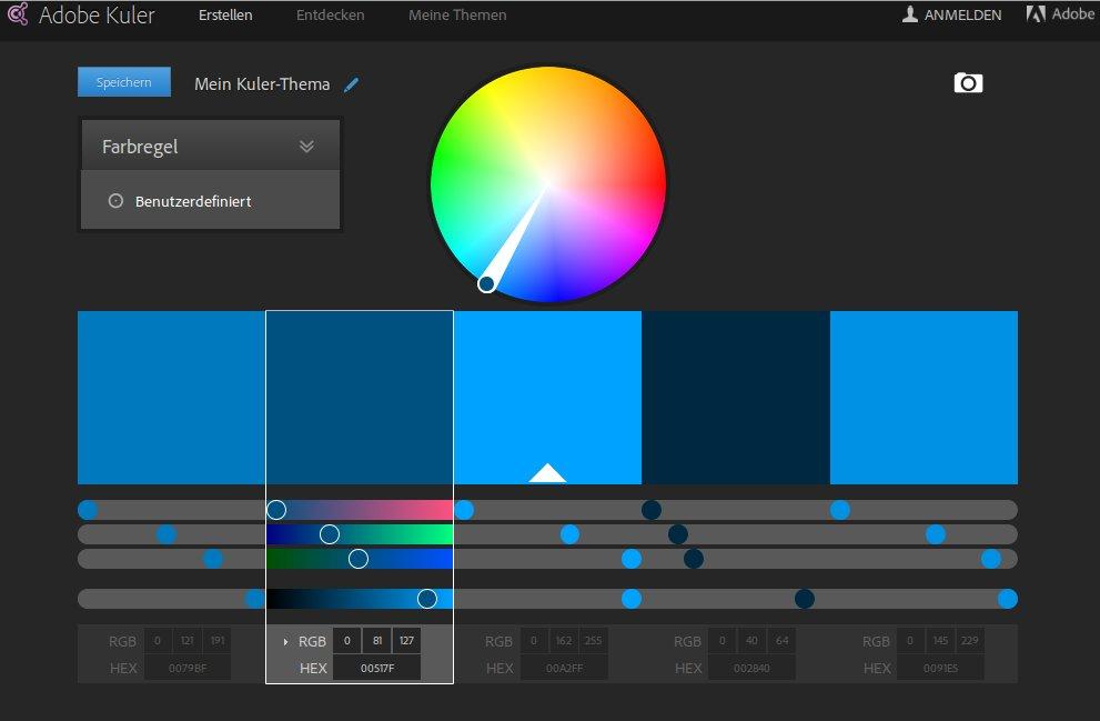 Farbpaletten mit Adobe Kuler erstellen
