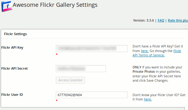 Das Awesome Flickr Gallery Plugin für WordPress