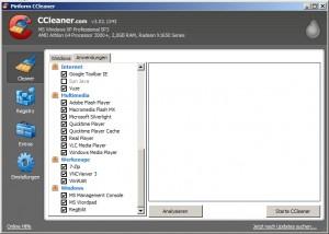 CCleaner im Löschmodus | Anwendungen
