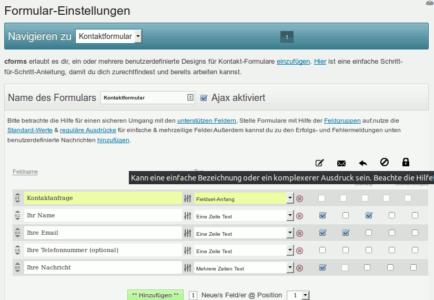 cforms II - eines der mächtigsten Kontaktformularplugins für WordPress