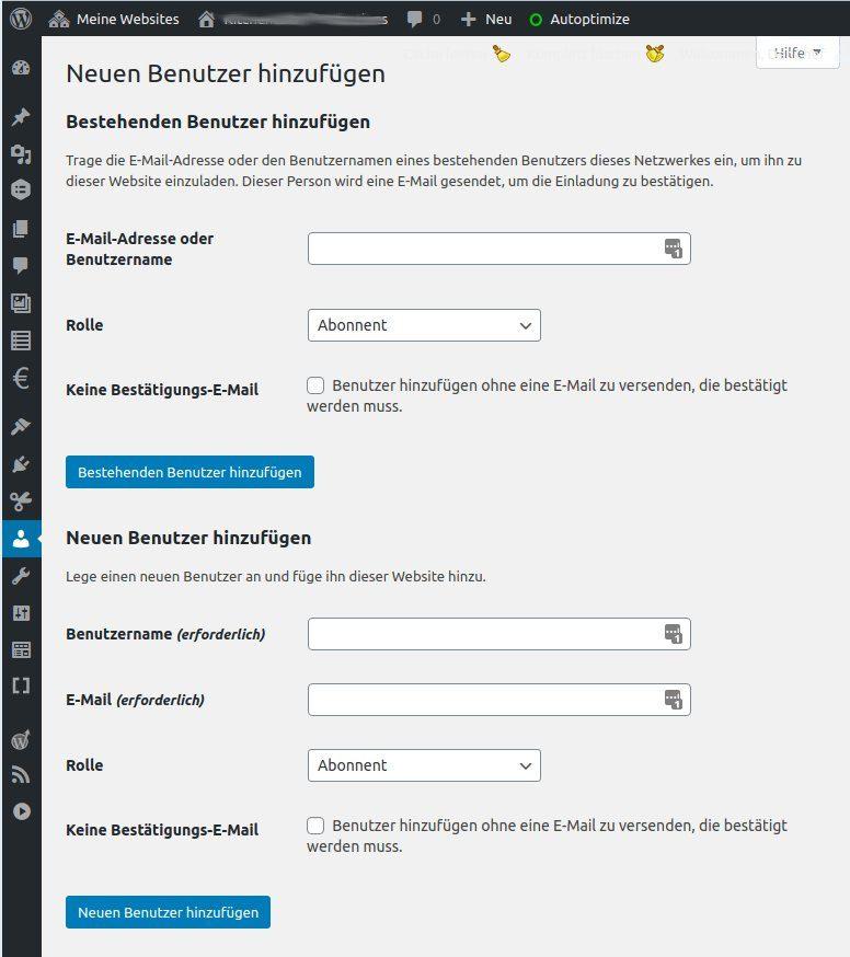 In einer WordPress Multisite einer Subsite nachträglich Benutzer zuweisen