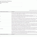 Explanatory dictionary - Begriffsverwaltung