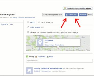 Facebook Veranstaltung zusagen