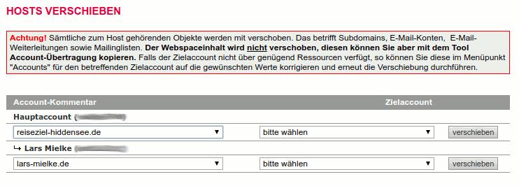 Hosts (Domains) zwischen Accounts verschieben.