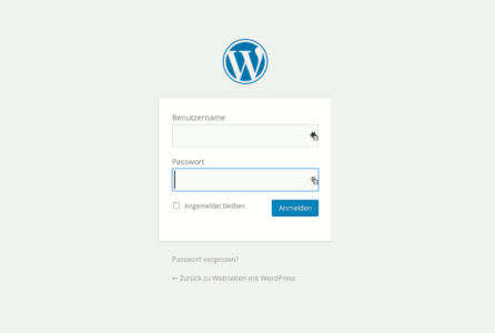 WordPress Login-Maske