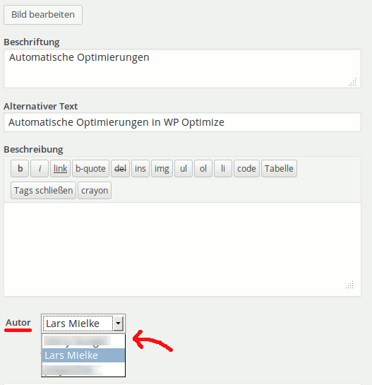 Das Media Author Plugin für WordPress