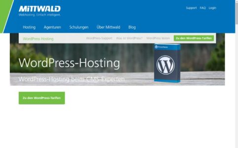WordPress Hosting bei Mittwald