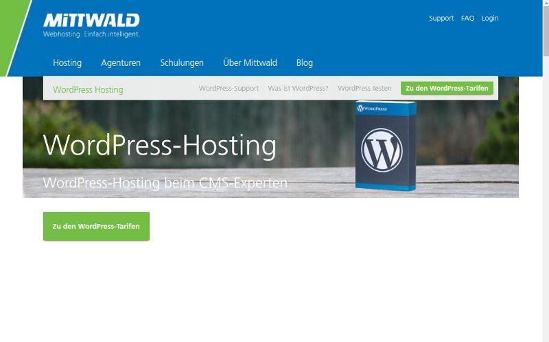 Empfehlenswerte WordPress Hoster: Mittwald