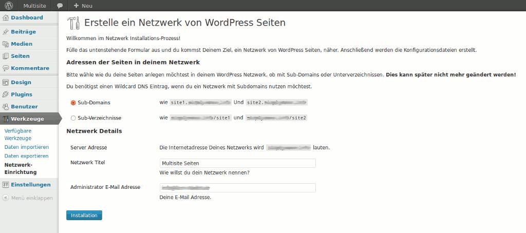 Subdomains oder Verzeichnisse WordPress Multisite