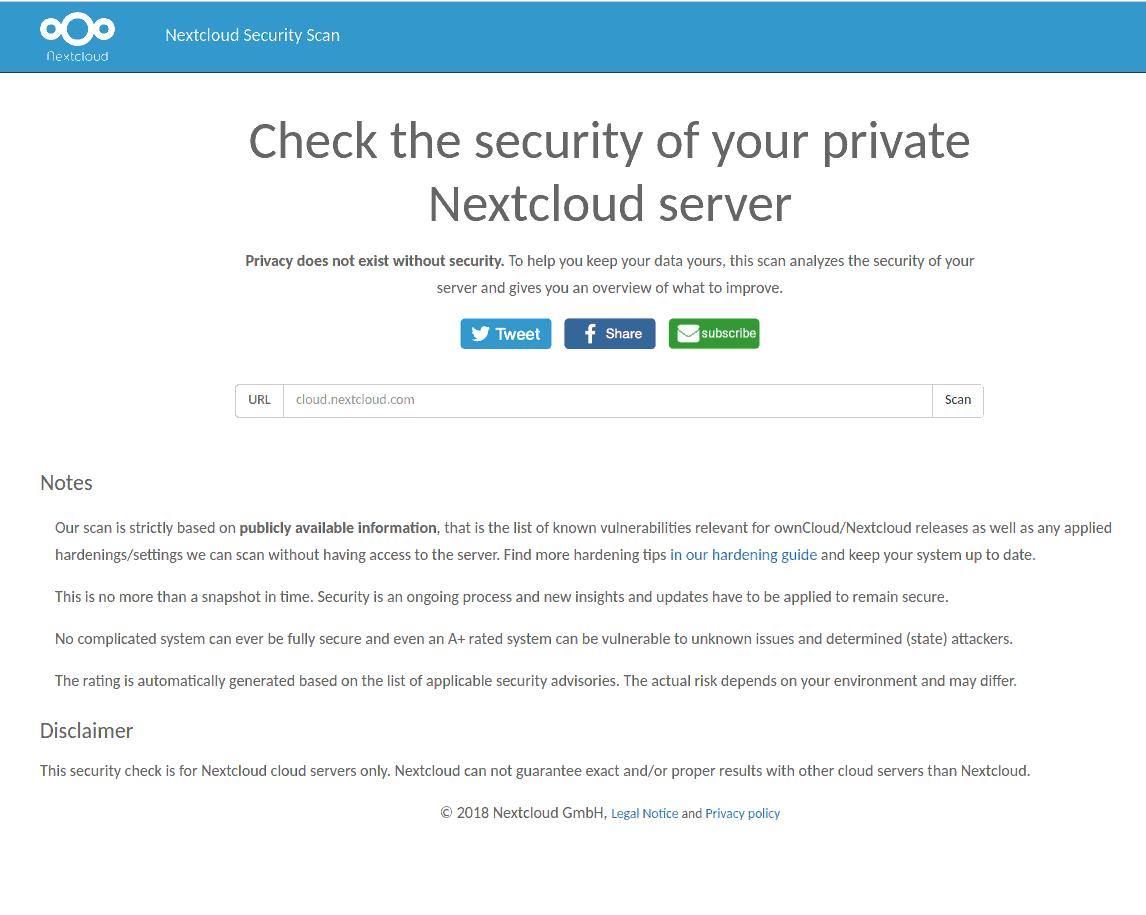 Mit dem Nextcloud Security Scan die Sicherheit überprüfen