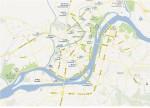 Die Innenstand Pjöngjangs auf Google Map. Copyright: Google Maps