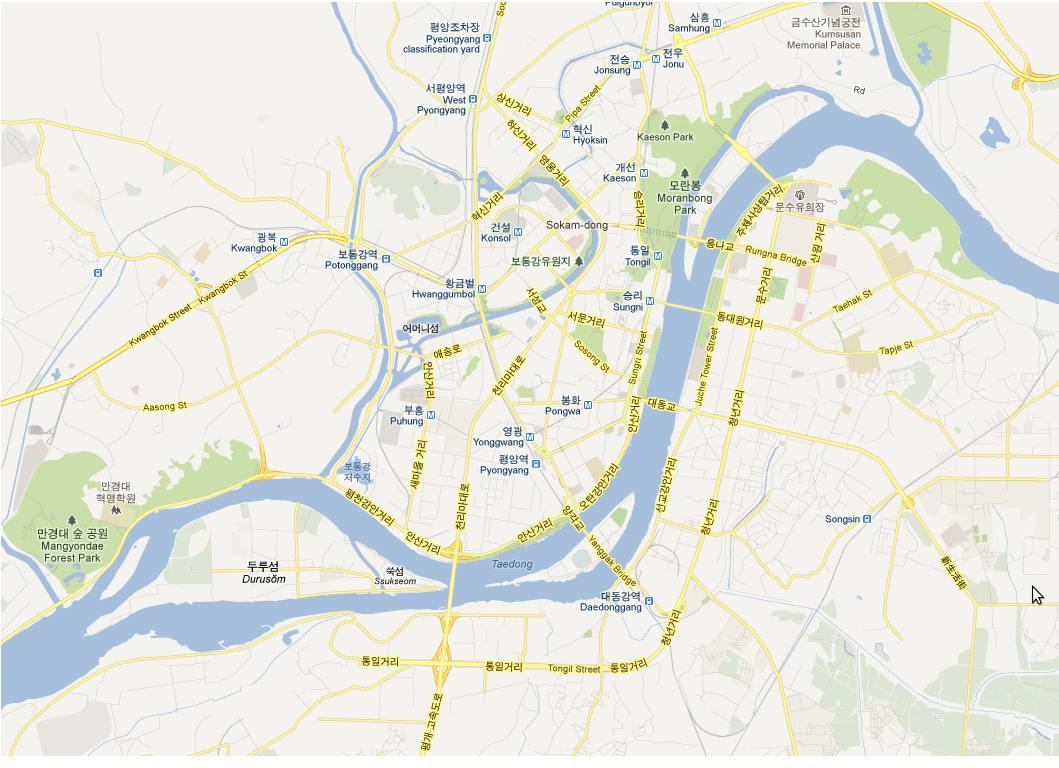 Nordkorea jetzt auf Google Maps