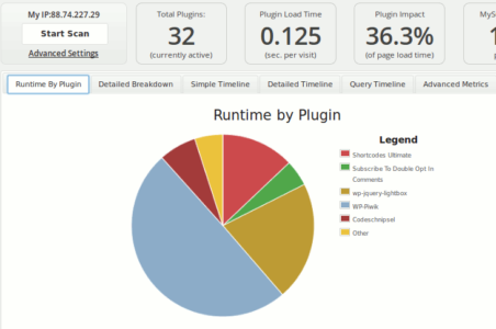 Arbeit mit dem Plugin Performance Profiler von GoDaddy
