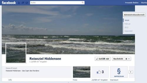 Reiseziel Hiddensee - Titelgraphik in der Facebook Timeline