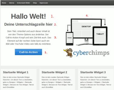 Startseite des WordPress Themes Responsive
