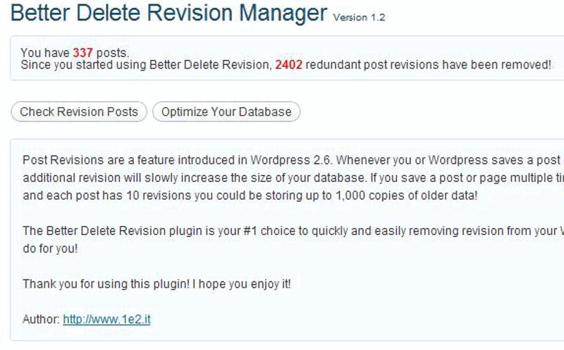 WordPress performanter machen – unnötige Revisionen löschen