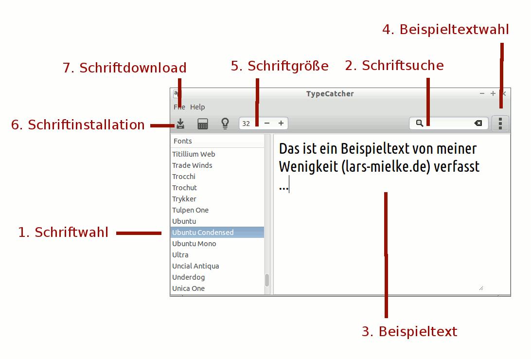 Google Webfonts mit Typecatcher herunterladen