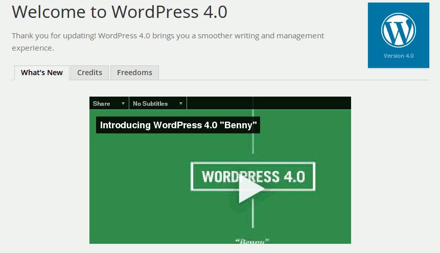 """WordPress 4.0 """"Benny"""" veröffentlicht"""