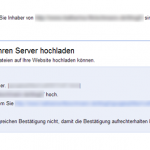 Site Verification mittels Datei-Upload