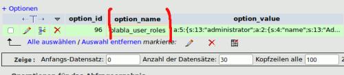 user roles Eintrag in phpmyadmin WordPress