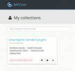 WP Core Plugin Sammlung