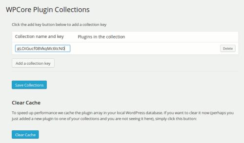 Schlüsselverwaltung beim WP Core Plugin