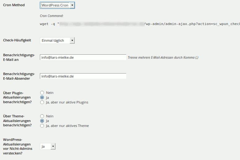WP Updates Notifier – Benachrichtigungen über WordPress Updates erhalten