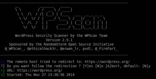 WPScan im Terminalfenster