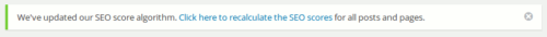 Version 3.0 von Yoast SEO erfordert Neuberechnung des Score