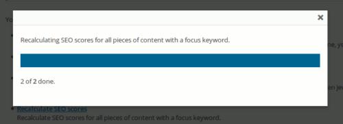 Score bei Beiträgen mit Focus Keyword wird neu berechnet